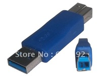 15pcs/lot USB3.0 Converter AM to BM Adapter Male to printer male free shipping via EMS or DHL
