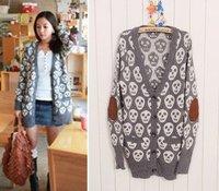 Wholesale  skull sleeve sweater sweaters coats #0037