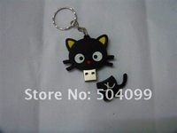 Black cat USB Flash Drive with 4GB 8GB 16GB 32GB  USB 2.0