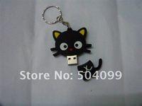 Black cat USB Flash Drive with 4GB 8GB 16GB 32GB  USB 2.0