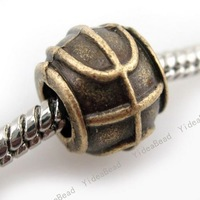 50 New Alloy Bronze Carved Charms Bead Fit Bracelet And Metal Diy Beads European Necklace Free Shipping 151021