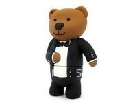 Gentleman Bear 2GB,4GB,8GB,16GB,32GB,64gb  USB flash drive memory stick Free shipping!