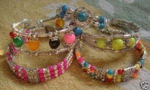 Wholesale LOT 5PCS Tibet silver jade Turquoise Bracelet
