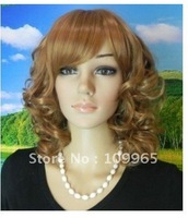 New medium spiral mixed healthy hair wig wigs +cap+Gift