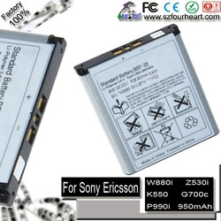 Replacement BST-33 SEBA01 battery for Sony Ericsson K630i Naite K790i T700 U1 U10 X1 G900i K800i W900i Z800i (free shipment)(China (Mainland))