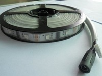5m led digital strip,DC5V input,HL1606 IC(256 scale);20pcs IC and 40pcs 5050 SMD RGB each meter;without controller;IP65