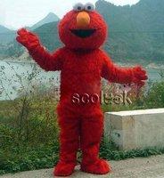Great !! Sesame Street  Plush Red Elmo Monster Cartoon Mascot Costume for Halloween