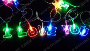 I LOVE YOU dual-color LED light bulb string / festive supplies / wedding lanterns(China (Mainland))