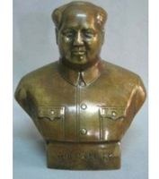 Chinese Great Chairman Mao Brass Statue 100% free shipping