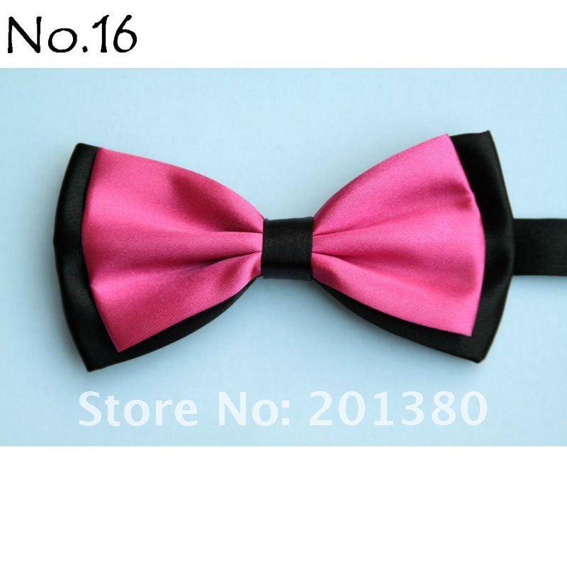 solid color men's bowtie bowties cravat bow tie knot hot pink men ties polyester bowtie ascot knots necktie 27colors(China (Mainland))