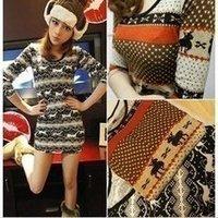 clothes Women pony knitting pattern deer thin shirts #0565 fashion wholesale T-shirt