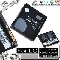 Replacement battery for LG AX830 GD330 Shine KG70 KG70c KE800 KE970 BL9970 KF600 KF750 KU970 UX830 LX570 AX565 (free shipment)