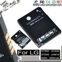 Replacement battery for LG mobile phone GC900 GM730e GT500 GT505e UX700 GT950 LX610 Lotus Elite UN610 GT505 (free shipment)