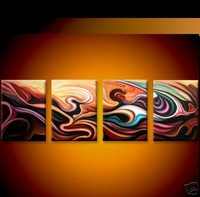 Modern Oil Painting On Canvas  abstract wall deco Guaranteed 100% handmade Free shipping  painting YP99