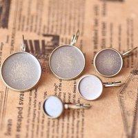 200pcs 20mm earring hook,earring finding,antique bronze Copper earring hook  accessories Free shipping
