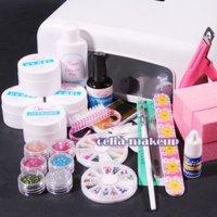 Free shipping 36W UV GEL White Lamp Dryer LIGHT NAIL ART Manicure TIPS SET KIT 6 Blocks 252