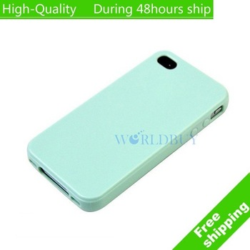 High Quality New generic TPU Rubber Skin Case For Iphone 4 4G 4S #5 Free Shipping UPS DHL HKPAM CPAM