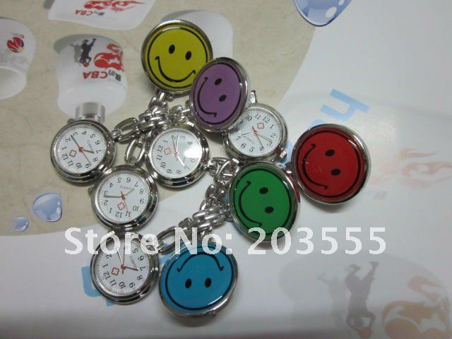 Lose money deal Free shipping 50pcs/lot Nurse watch with similing face ,Smile doctor watch L1112a(China (Mainland))