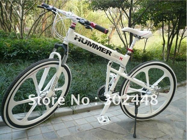 "Wholesale New Design! cheap Latest Cool Hummer 26"" Aluminium Alloy Foldable Mountain Bike at 24 Speed(China (Mainland))"