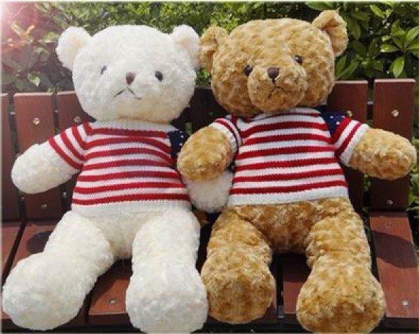 Brand Teddy Bear Plush Toys, retro dressing cloth Teddy bear good for gift 65 cm 1pc(China (Mainland))