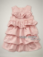 1 pcs Retail,2 colors, Cute Toddler's & Little Girl's Tiered Dress girl's princess dress, Freeshipping