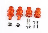 CNC - 5SC Alloy Extended Axles - Front & Rear - Orange, Silver, Titanium