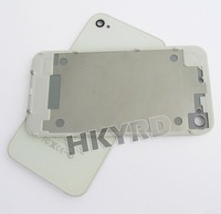 White Back Housing Cover+bezel frame holder Assembly For Iphone 4G W/Side C1031