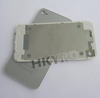 Silver Back Housing Cover+bezel frame holder Assembly For Iphone 4G W/Side C1031