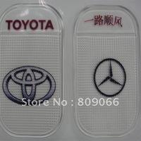customized TOYOTA Silicon Sticky Jelly mobile phone Mat, transparent PU car anti slip mat, non slip pad, PU Magic Sticky Pad