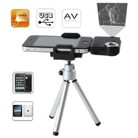 Free shipping for iPod iPhone, iPod (with AV out)  Portable Projector with TV connection
