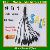 Hot selling USB universal mobile cellphone 10 in1 Multi-Function Cell Phone Mobile USB Charger Cable