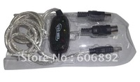 10pcs/lot USB midi cable ,midi interface cable ,midi cable support Window 7 free shipping via EMS or DHL