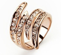 Best sellers . Credit guarantee 100% of European and American fashion 18K Gold  Ring FREE SHIPPING