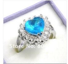 Beautiful heart crystal ring 7.8.9(China (Mainland))