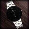 Free Shipping Men Stainless Steel Band Japan Quartz Fashion Watch Black Dial Index Wholesale 398N