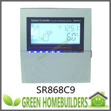 CE approved , New SR868C9 solar heating system controller , 110V/60Hz , 220V/50Hz(China (Mainland))