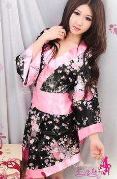 Free shipping Sexy Lingerie Sex sexy babydoll love Sleeping wear Adult Sexy Dress Kimono Costume Catsuit H15