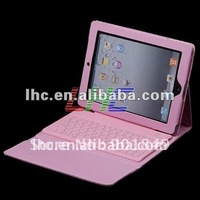 Leather case with wireless bluetooth keyboard for ipad pad 2 tablet PC New Arrival