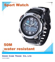 men sports watch bracelet wristwatches analog digital led display waterproof 50m quartz watch