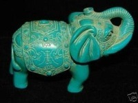 collect the elephant statue with turquoise from Tibet free shipping