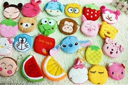 11111 Girl's Coin Purse Lovely Animal Fruit Design many colours Ramdon Delivery !10pcs/lot wholesale and retail 2012 Hot sale!(China (Mainland))