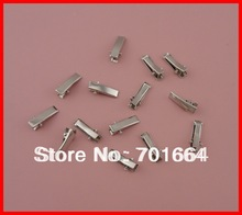 Bargain for Bulk 2.0cm mini rectangle plain metal alligator clip with teeth at white color at lead free and nickle free quality(China (Mainland))