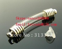 6MM Curve Tube For Rice Bracelets ,rice vials,Mini vials pendants,rice pendant vial ,glass vials for rice jewelry