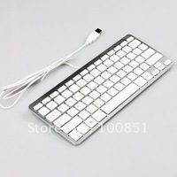 Free shipping! White chocolate black color super thin USB notebook computers mini keypad with scissors foot