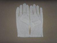 wholesales white 100% cotton encryption type gloves +freeshipping