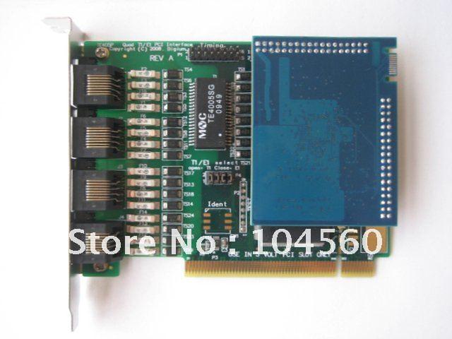 TE407P (TE405+VPMOCT128 module) Echo Cancellation Digium Asterisk card VoIP IP PBX(China (Mainland))