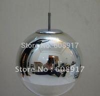 Free Shipping 40CM Silver Color Tom Dixon Mirror Ball Pendant Lamp*3pieces