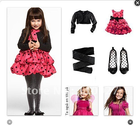 Polka  Dress on Girls Coats Cotton Outwear Cartoon Clothing Baby Hoodies Girls Jackets