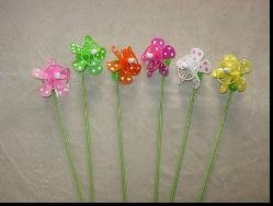 windmill stick- animal garden sticks-plastic garden stick--wooden swizzle sticks(China (Mainland))