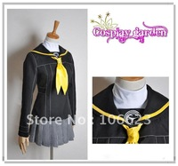 Wholesale Free Shipping Hot Selling Cheap New Halloween Cosplay Costume C4701 Persona 4 high school girl uniform For Christmas